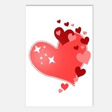 I Love You Hearts Postcards (Package of 8)