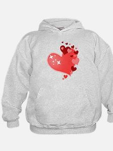 I Love You Hearts Hoodie