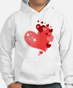 I Love You Hearts Hoodie
