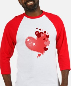 I Love You Hearts Baseball Jersey