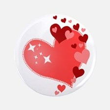 "I Love You Hearts 3.5"" Button"
