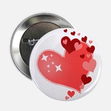 "I Love You Hearts 2.25"" Button"
