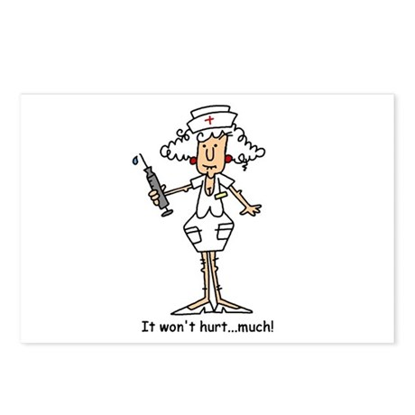 Funny Nurse Two Postcards (Package of 8)