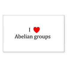 I Heart Abelian groups Rectangle Decal