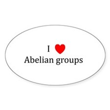 I Heart Abelian groups Oval Decal