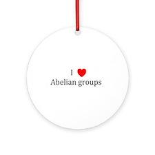 I Heart Abelian groups Ornament (Round)