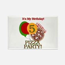 5th Pizza Party Birthday Rectangle Magnet
