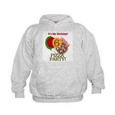 6th Pizza Party Birthday Hoodie