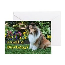 I Smell a Birthday Sheltie Card