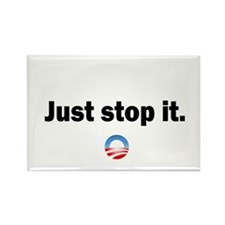 Cute Stop obama Rectangle Magnet