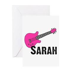 Guitar - Sarah Greeting Card