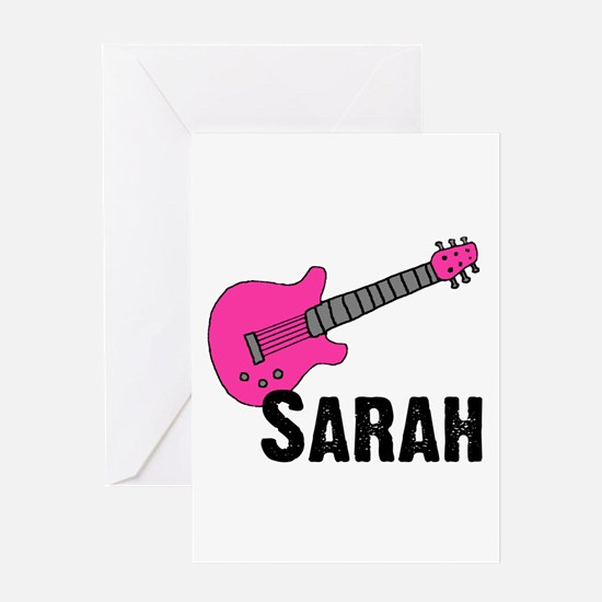 Guitar - Sarah Greeting Card