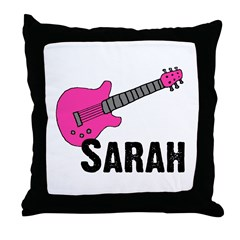 Guitar - Sarah Throw Pillow