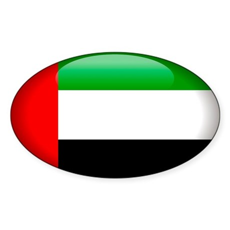 United Arab Emirates Oval Sticker
