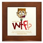 Obama WTF!? Design 2 Framed Tile