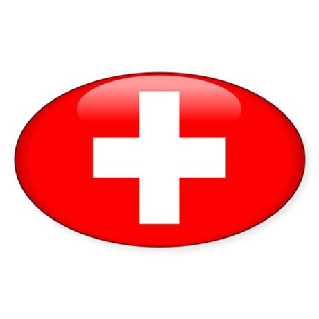 Switzerland Oval Sticker
