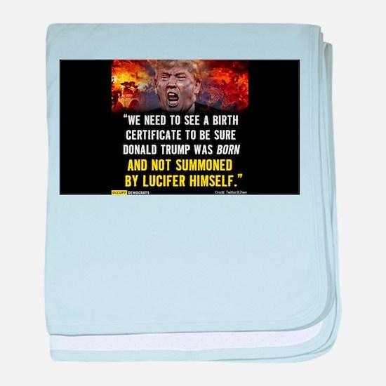 Donald Trump: Anti-Christ baby blanket