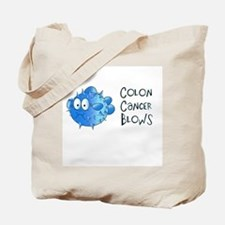 Colon Cancer Blows Tote Bag