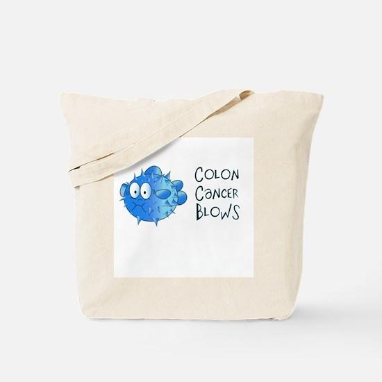 Colon Cancer Blows Tote Bag