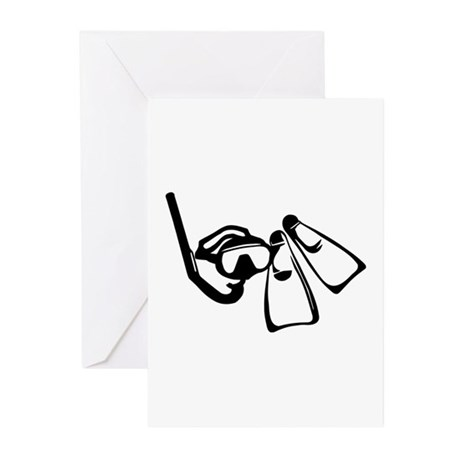 Diving Set Greeting Cards (Pk of 10)