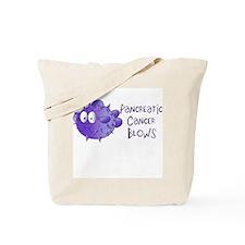 Pancreatic Cancer Blows Tote Bag