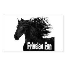 Friesian Fan Rectangle Decal