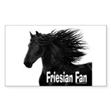 Friesian horse Stickers