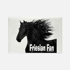 Friesian Fan Rectangle Magnet (10 pack)