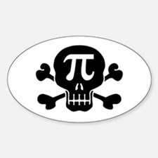 Pi Rate Oval Stickers