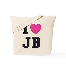 I Heart JB Jacob Black Tote Bag