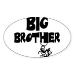 Big Brother (Monkies) Oval Sticker