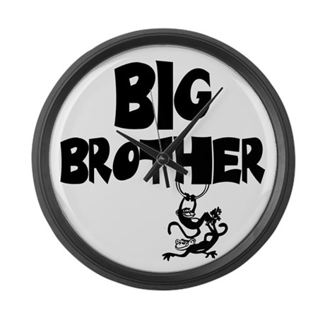 Big Brother (Monkies) Large Wall Clock