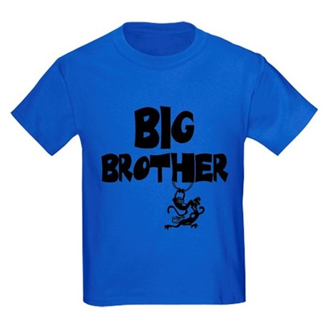 Big Brother (Monkies) Kids Dark T-Shirt