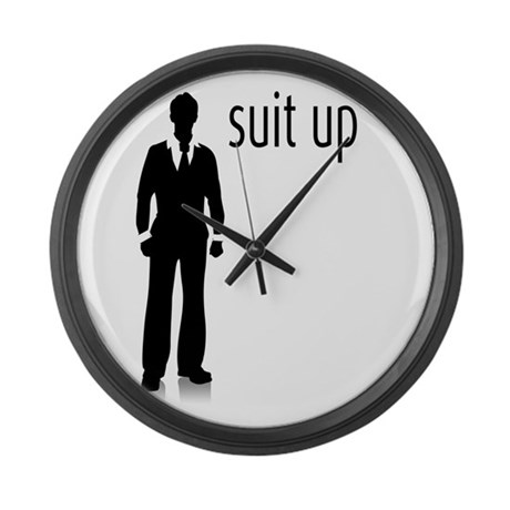 Suit Up Large Wall Clock