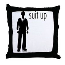 Suit Up Throw Pillow