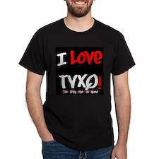 I-Love-TVXQ!Black-White T-Shirt