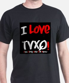 I-Love-TVXQ!Black-White T-Shirt