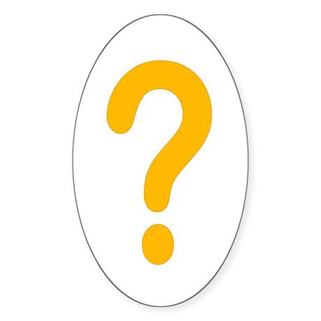 WoW question mark Oval Sticker