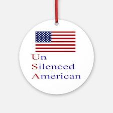 Un Silenced American Ornament (Round)