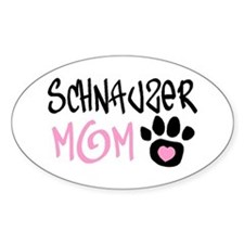 SCHNAUZER Oval Decal