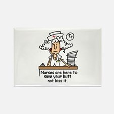 Funny Nurse Six Rectangle Magnet (100 pack)