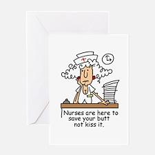 Funny Nurse Six Greeting Card