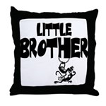 Little Brother (Monkies) Throw Pillow