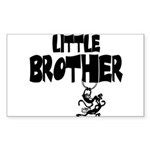 Little Brother (Monkies) Rectangle Sticker