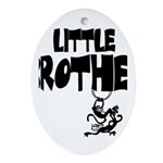 Little Brother (Monkies) Oval Ornament