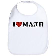 I Love Math Pi Bib