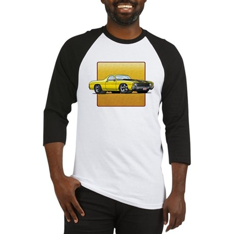 Yellow w/Black Stripes El Camino Baseball Jersey