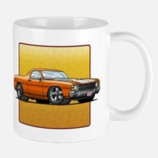 Orange w/White Stripes El Cam Mug