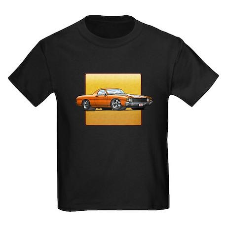 Orange w/White Stripes El Cam Kids Dark T-Shirt