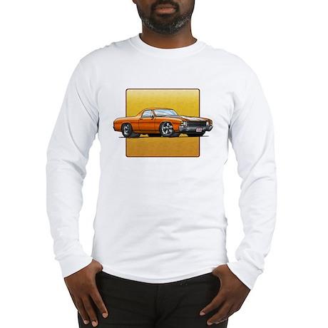 Orange w/White Stripes El Cam Long Sleeve T-Shirt